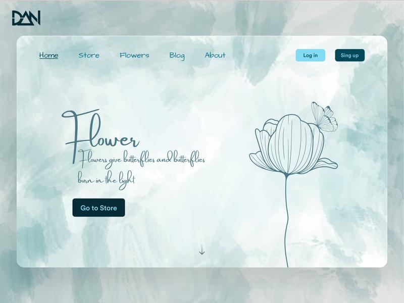 Flower landing page design 🌷 website web design webdesign web ui  ux uiux uikit uiux design web ios app mobile uidesign design uiuxdesign