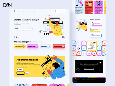 Web Design Internet Training Service 👨🏻‍🏫👩🏻‍🏫 animated prototype ux website design media teacher video ui website web design webdesign web ui  ux uiux uidesign design uiuxdesign