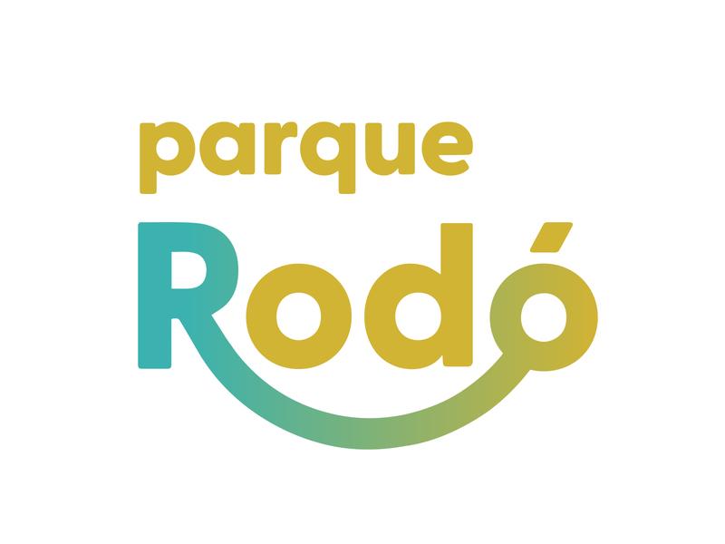 Parque Rodó typography branding design type logotipo branding design brand logo gradient logo fun park amusement park