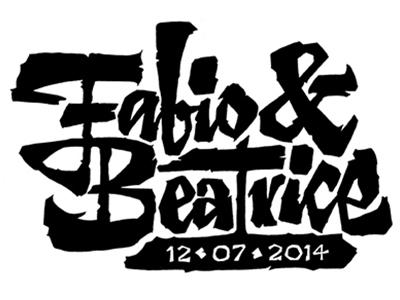 Fabio Beatrice lettering calligraphy type invitation