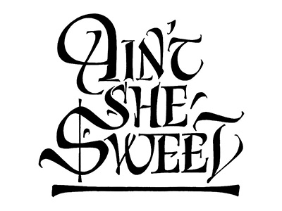 Sweet calligraphy lettering type
