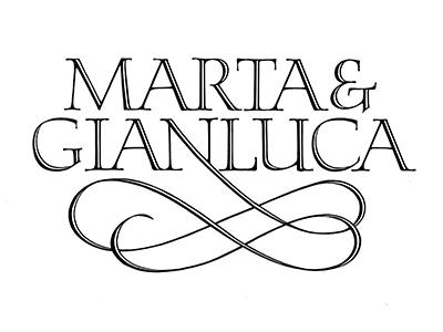Marta & Gianluca calligraphy lettering type