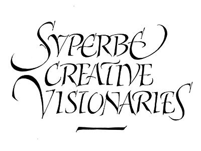 Svperbe calligraphy lettering italic handmade capitals