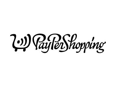 PayPerShopping logo logotype type calligraphy lettering