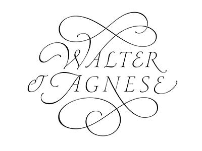 Walter & Agnese calligraphy lettering italic handmade capitals logo