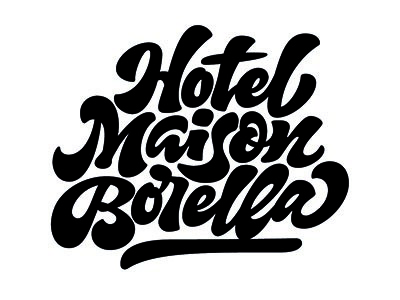Hotel Maison Borella lettering calligraphy type branding