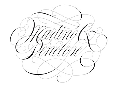 Martino & Penelope copperplate spencerian contrast elegant type calligraphy lettering