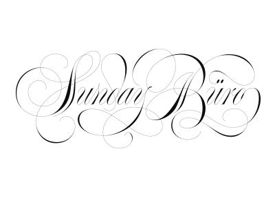 Sunday Büro copperplate spencerian contrast elegant type calligraphy lettering