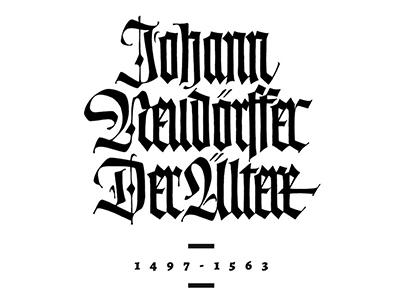 Blackletter handlettering fraktur textura blackletter type calligraphy lettering