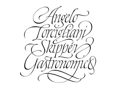 Torcigliani Italic handmade swashes elegant italic lettering calligraphy