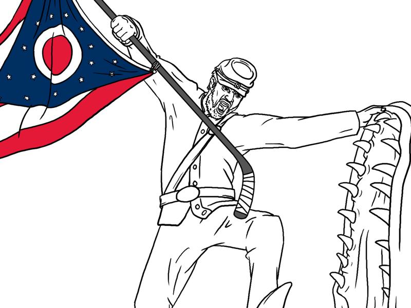 CBJ Opening Night Poster game of thrones photoshop art drawing illustration dragon hockey ohio sport