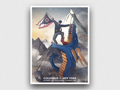 Slay Sparky sports illustration sports design illustration war dragon print poster nhl hockey sports