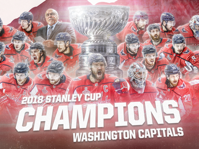 Washington Capitals - Stanley Cup Champions stanley cup playoffs dc washington ovechkin sports hockey