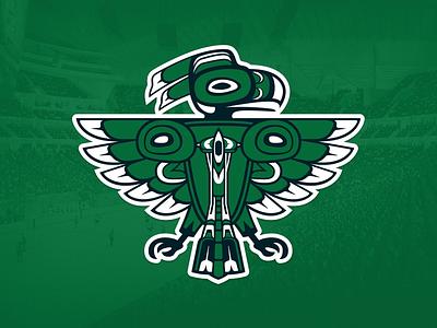 Seattle Totems Logo space needle seattle logo mark icon team sports nhl corporate identity branding brand