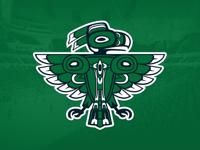 Seattle Totems Logo space needle seattle logo mark icon team sports nhl corporate identity branding brand
