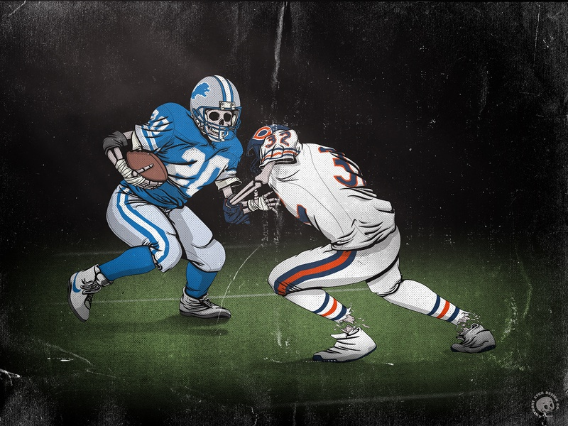 Legends Never Die - Barry Sanders legend icon nfl football identity digital cartoon sketch screen print poster brand vector design drawing sports print art illustration