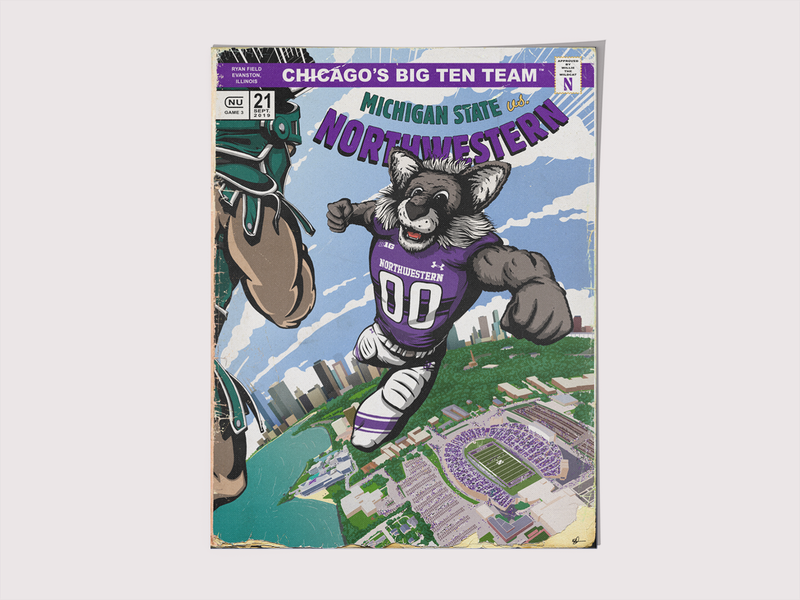 NU vs. MSU Program Cover/Poster