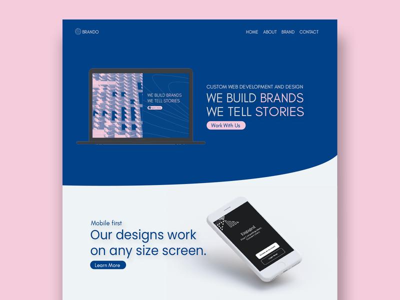 Design Agency Landing Page landing page design mockup web design landing design landing-page