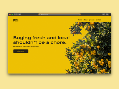 Landing Page for Local Organic Produce Company branding design designer design landing landingpage landing-page web design webdesign