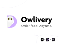 Food Delivery Company Logo | Owlivery v.2 agenda typography branding design vector illustration delivery food delivery service owl logo mark logo design logodesign logo
