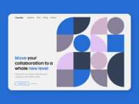 Layout, Color & Typography Exploration experiment exploration dystopian typography web hero page landing page geometry geometric design concept website golden ratio minimal abstract