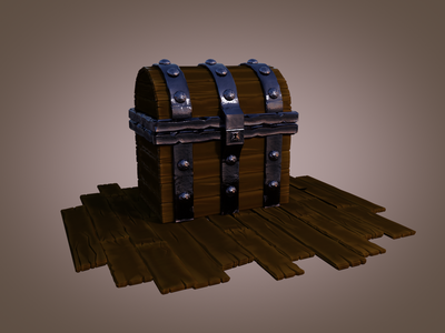 Treasure Chest | Work in progress render in progress cgcookie blender 3d 3d modeling treasure chest pirate blender3d blender work in progress cycles 3d art 3d