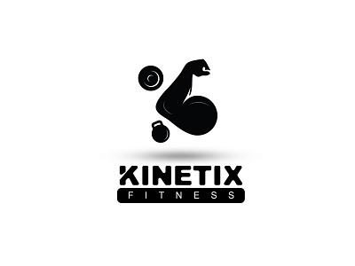 KINETIK Fitness typography animation logo icon illustator vectors branding design branding minimal logo fitness logo fitness kinetic