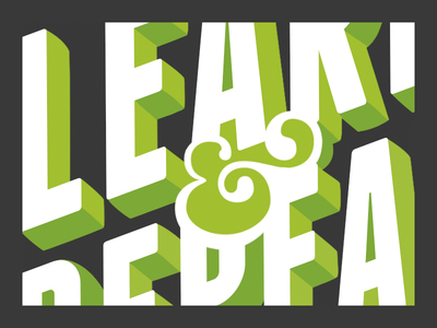 Fail Fast, Learn & Repeat type typography ampersand poster franchise typeface