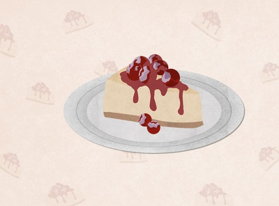 Cheesecake Love! cheesecake dessert illustration food