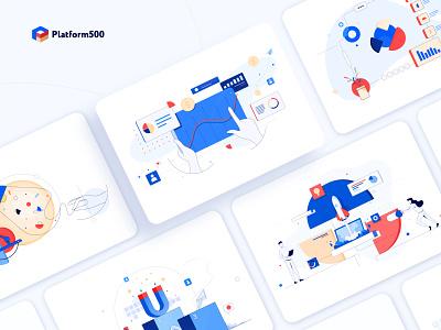 Blog Illustrations vector illustrator web ux branding ui design illustration