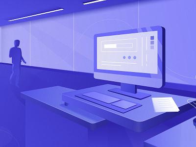 Workspace of HiPool pool web ui design branding vector illustrator illustration
