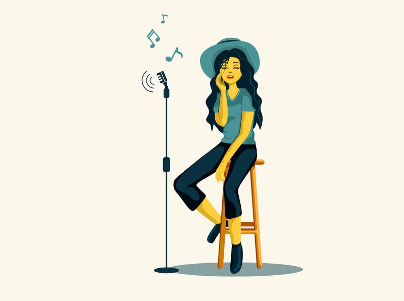 Static pose design digital illustration digital painting digital art digitalart digital vector illustrator static girl