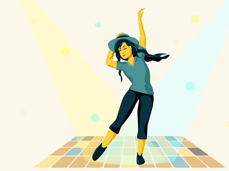 Dynamic pose design illustration vector digital painting illustrator girl digital illustration digital art digitalart digital