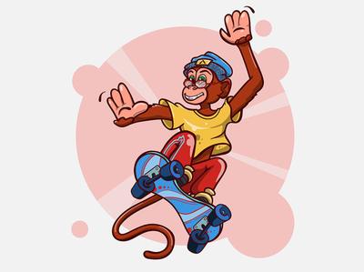 Monkey character design character zoo animals money brending art vector illustration illustrator digital painting digital illustration digital art digitalart digital design