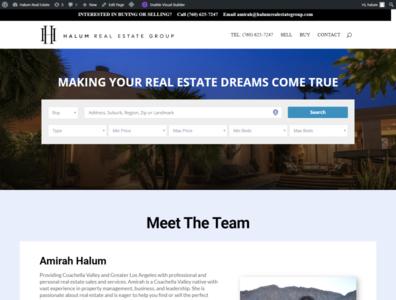 Idx Real estate website with divi builder
