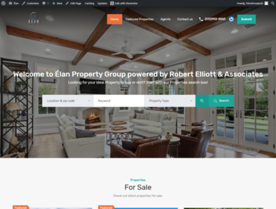 Idx mls  Real estate website with elementor builder 2020