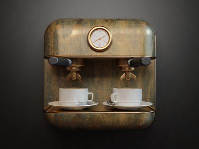Coffee webshocker coffee design 3d photoshop icon fun