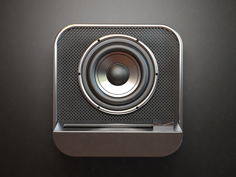 Speaker webshocker speaker icon ios design 3d photoshop