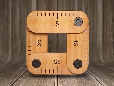Measure webshocker measure wood design 3d photoshop icon