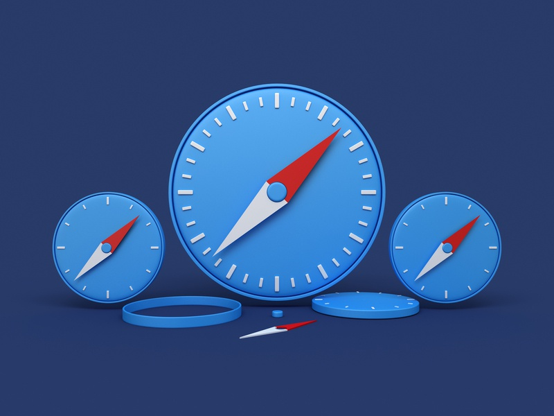 Safari mac os safari website render icon 3d design webshocker