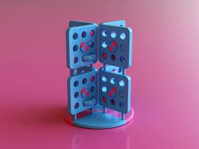 Holes II 3dsmax vray loop art abstract render animation 3d design webshocker