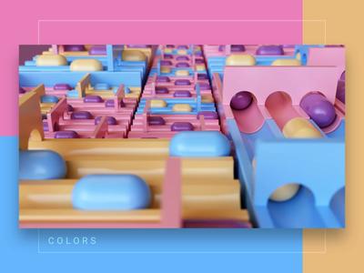 Colors store shop game branding 3dsmax vray loop colors art abstract website render animation 3d design webshocker