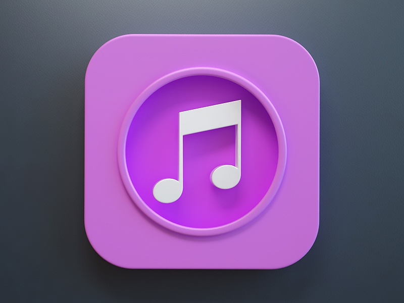 iTunes iOS7 webshocker icon ios7 ios itunes 3d