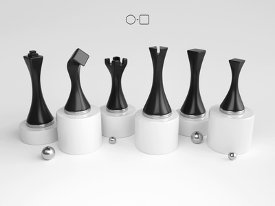 Circle to Square product design product game chess set chess render animation 3d design webshocker