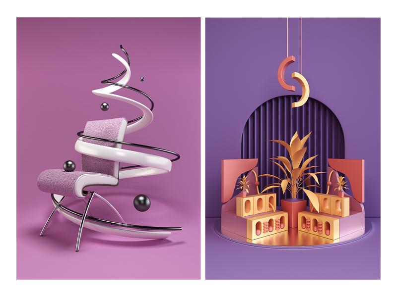 Prints 3d art art printdesign print illustration render 3d design webshocker