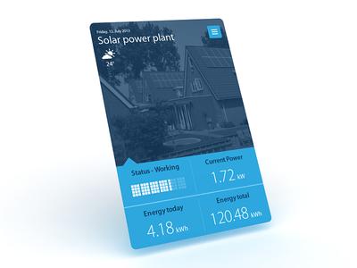 Solar power plant widget