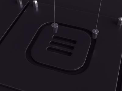 Menu - dark version loop 3dsmax vray paint liquid icon menu realflow render animation 3d design webshocker