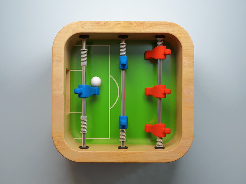 Table Football webshocker icon football table wood ball game ios
