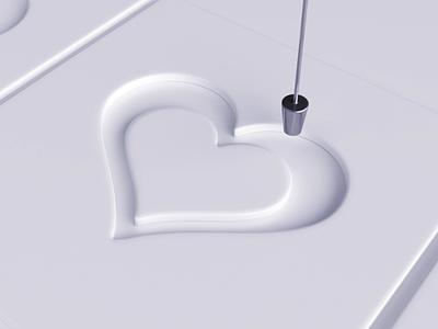 ❤ paint liquid loop vray 3dsmax realflow heart love like render animation 3d design webshocker