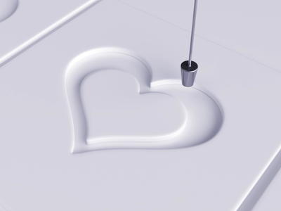 ❤ paint liquid loop vray 3dsmax realflow heart love like render animation 3d design webshocker